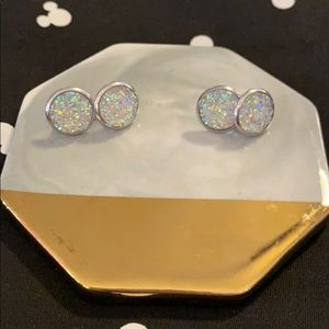 Jewelry - Sale 5/$15 large round glitter earrings